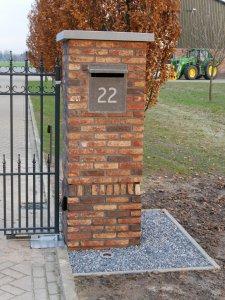 Gemetselde poortpaal voor poorten op maat